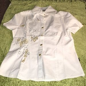 Christian Dior Boutique white top shirt